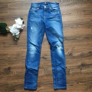 7 for all mankind skinny mid rise jeans 24